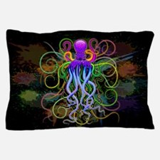 Octopus Psychedelic Luminescence Pillow Case