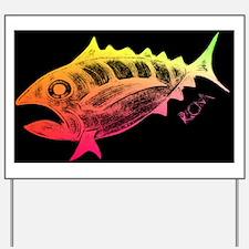 Cool Tuna Logo Black Yard Sign