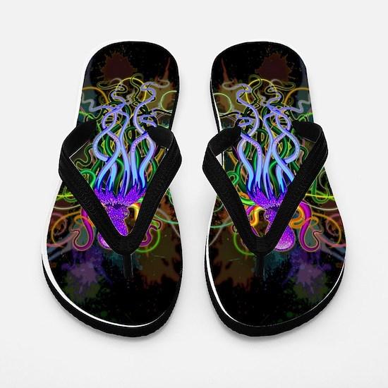 Octopus Psychedelic Luminescence Flip Flops