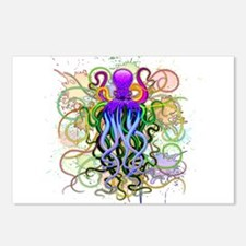 Octopus Psychedelic Luminescence Postcards (Packag