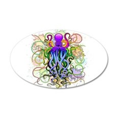 Octopus Psychedelic Luminescence Wall Decal