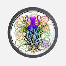 Octopus Psychedelic Luminescence Wall Clock