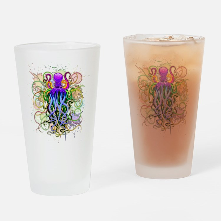 Octopus Psychedelic Luminescence Drinking Glass