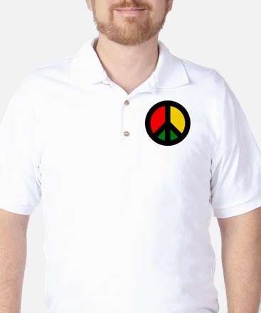 Rasta Ban the Bomb Golf Shirt