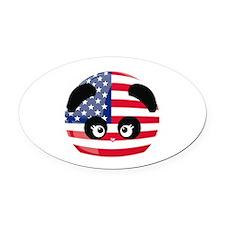 Love Panda® Oval Car Magnet