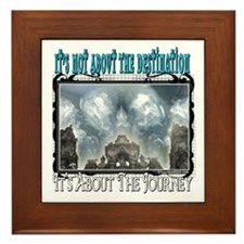 It's Not About The Destination Framed Tile