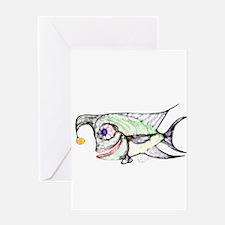 Slant Head The Fish 2 Greeting Cards
