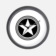 Americana Star Circle Emblem Design Wall Clock