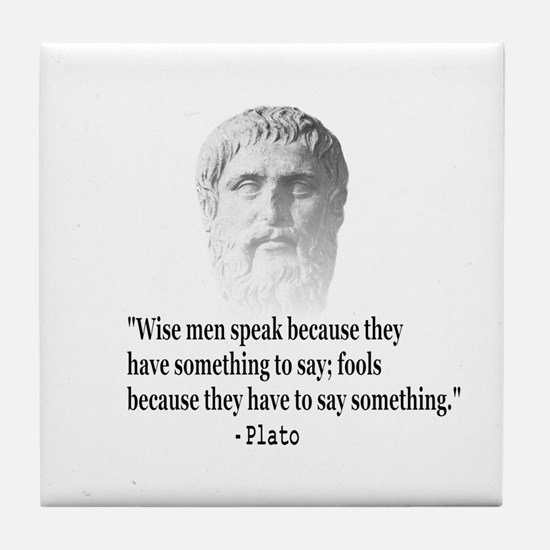 Quote By Plato Tile Coaster