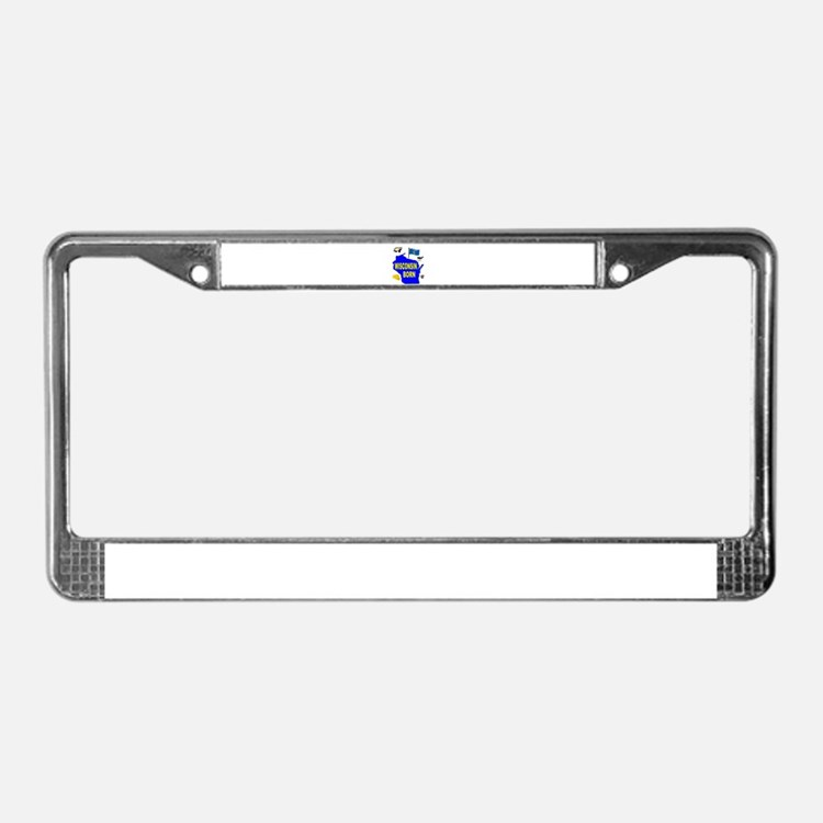 WISCONSIN BORN License Plate Frame
