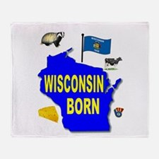 WISCONSIN BORN Throw Blanket
