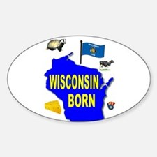 WISCONSIN BORN Decal