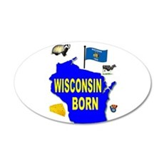 WISCONSIN BORN Wall Decal