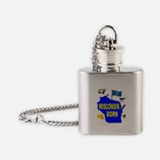 WISCONSIN BORN Flask Necklace