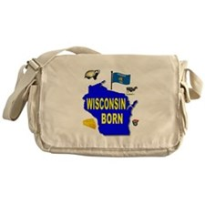 WISCONSIN BORN Messenger Bag