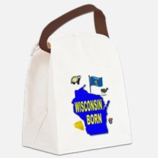WISCONSIN BORN Canvas Lunch Bag