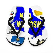 WISCONSIN BORN Flip Flops