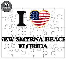 I love New Smyrna Beach Florida Puzzle
