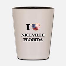 I love Niceville Florida Shot Glass