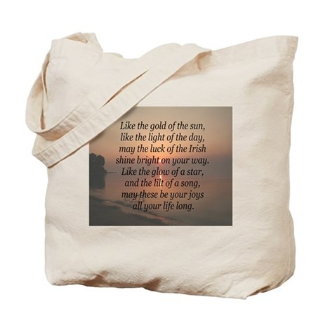 Gold of the Sun Blessing Tote Bag
