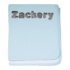 Zackery Wolf baby blanket