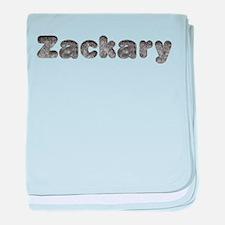 Zackary Wolf baby blanket