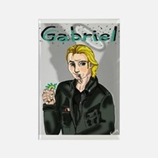 Gabriel as the Trickster Rectangle Magnet