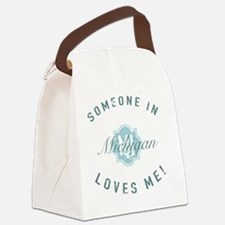 Someone In Michigan Canvas Lunch Bag
