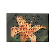 True Wealth Irish Blessing Rectangle Magnet (100 p