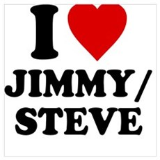 I Love Jimmy/Steve Framed Print