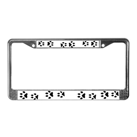 Wolf Tracks License Plate Frame
