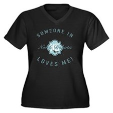 Someone In N Women's Plus Size V-Neck Dark T-Shirt