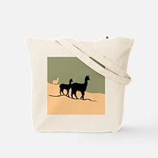 Alpacas Hillside Tote Bag