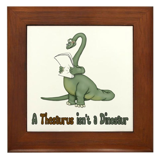 Thesaurus dinosaur framed tile by spicetree for Decor thesaurus