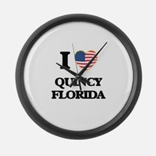I love Quincy Florida Large Wall Clock