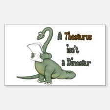 Thesaurus Dinosaur Rectangle Decal