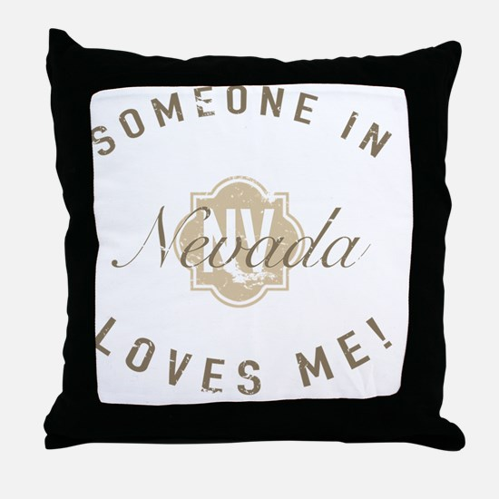Someone In Nevada Throw Pillow