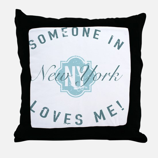 Someone In New York Throw Pillow