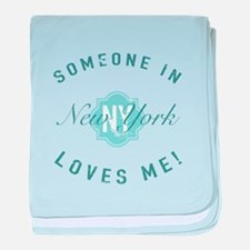 Someone In New York baby blanket