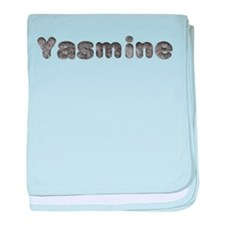 Yasmine Wolf baby blanket