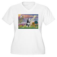 Cloud Angel & Siberian Husky T-Shirt