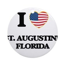 I love St. Augustine Florida Ornament (Round)