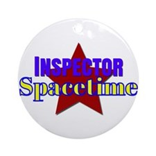 Inspector Spacetime Ornament (Round)