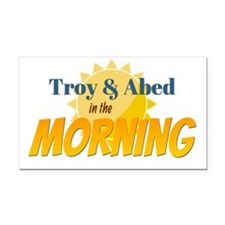 Troy and Abed in the morning Rectangle Car Magnet