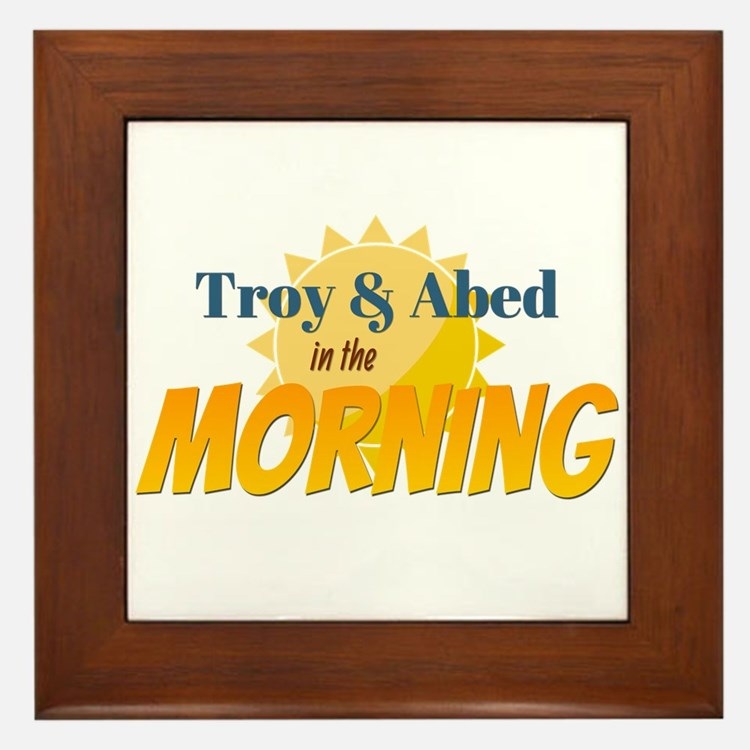 Troy and Abed in the morning Framed Tile