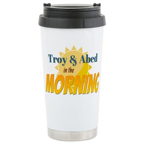 Troy and Abed in the morning Travel Mug by FanAttic1