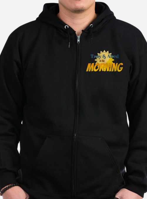 Troy and Abed in the morning Zip Hoodie