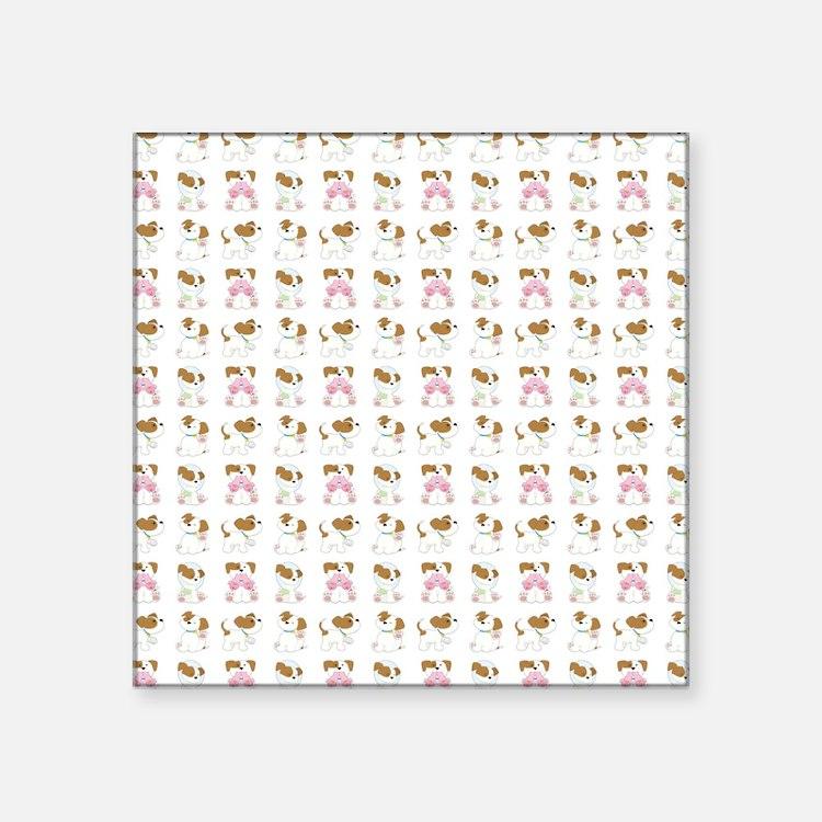 """PUPPY LOVE Square Sticker 3"""" x 3"""""""