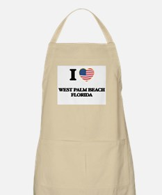 I love West Palm Beach Florida Apron