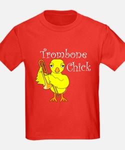 Trombone Chick Text T